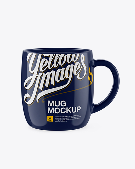 Glossy Mug Mockup in Object Mockups on Yellow Images Object Mockups