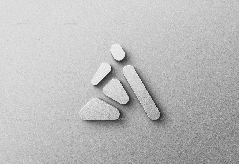 3D Logo Mockup Realistic & Pro Quality - Set Of Five