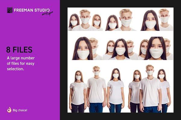 Medical Mask Mock-Up Set | Creative Mockup Templates