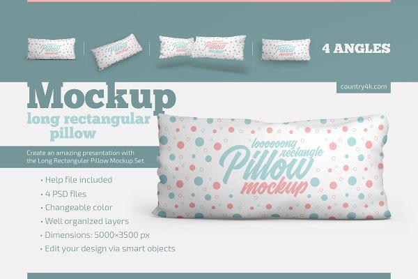 Long Rectangular Pillow Mockup Set | Creative Product Mockups