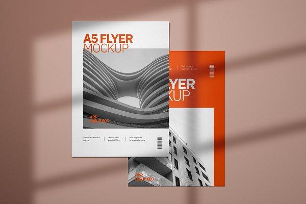 A5 Flyer Mockup Set   Creative Print Mockups