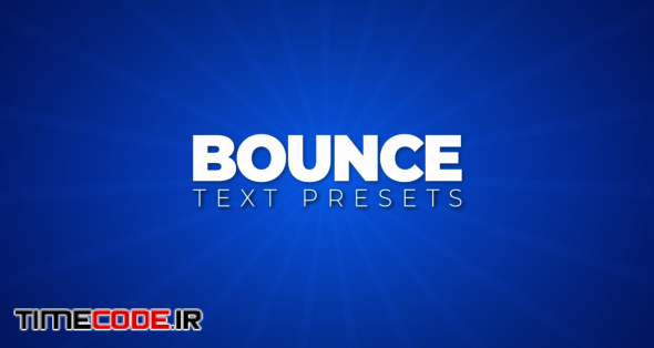Bounce Text Presets