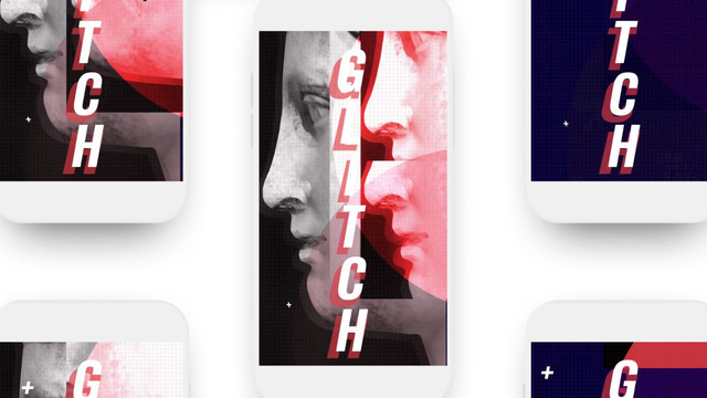 Glitch Stories Typography Pack
