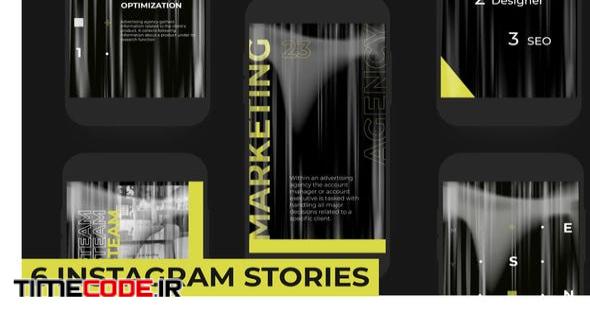Yellow stories pack instagram
