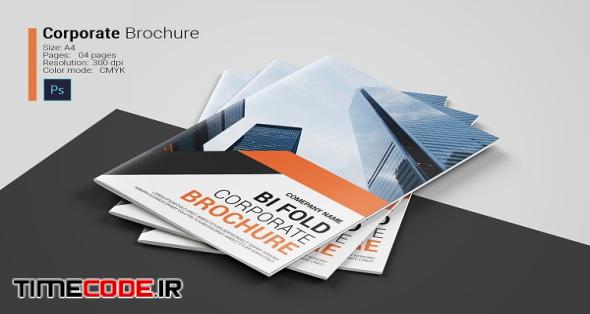 Corporate Bi-fold Brochure | Creative Photoshop Templates