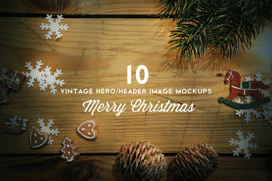 Christmas Hero / Header Mockup
