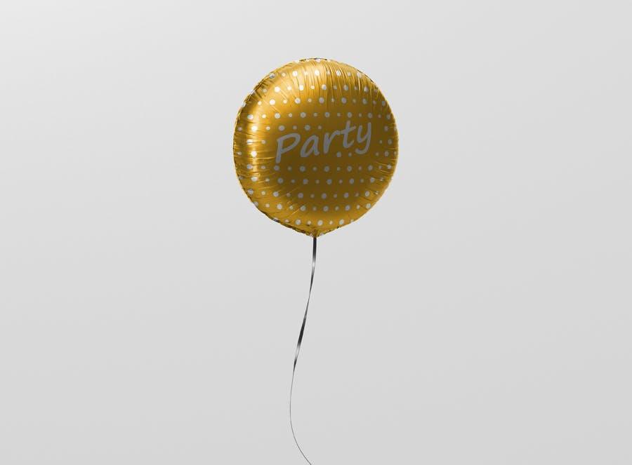 Round Balloon Mockup