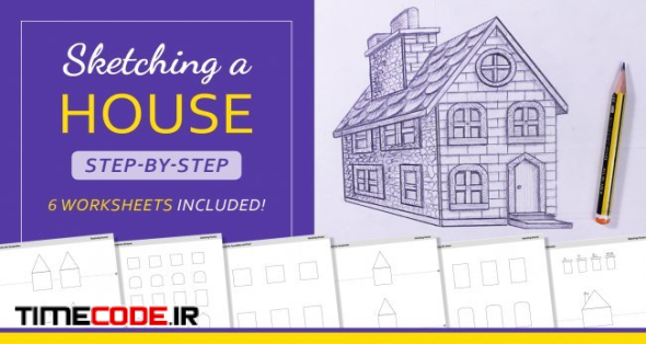 Sketching a House: Step-by-Step