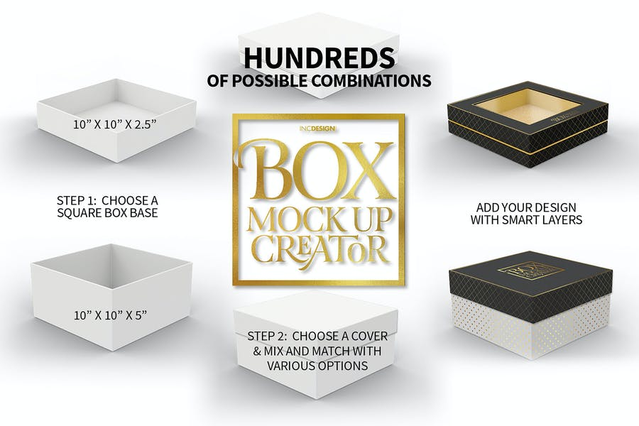 Box Mockup Creator - Square Box Edition