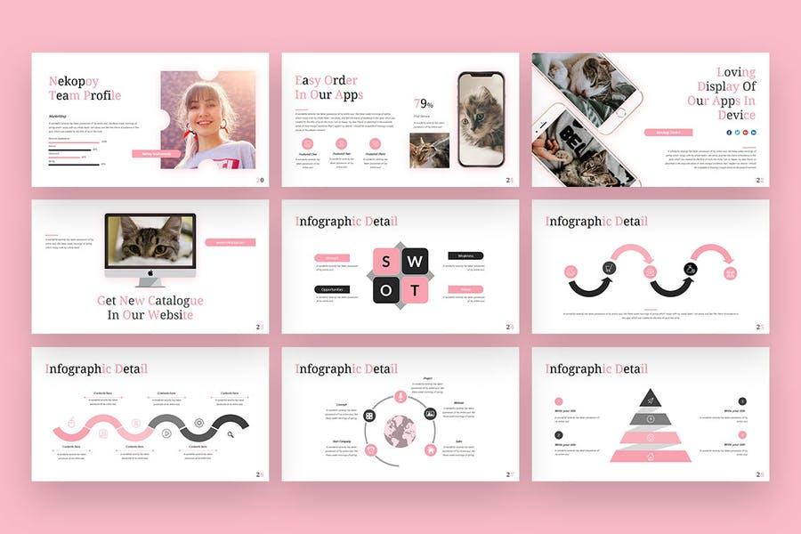 Nekopoy - Multipurpose PowerPoint Presentation