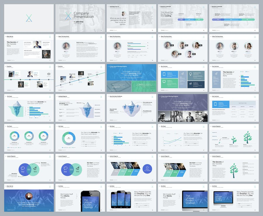 The X Note - Powerpoint Template