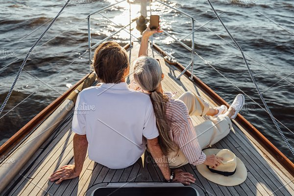 Rear View Of Senior Man And Woman | High-Quality People Images