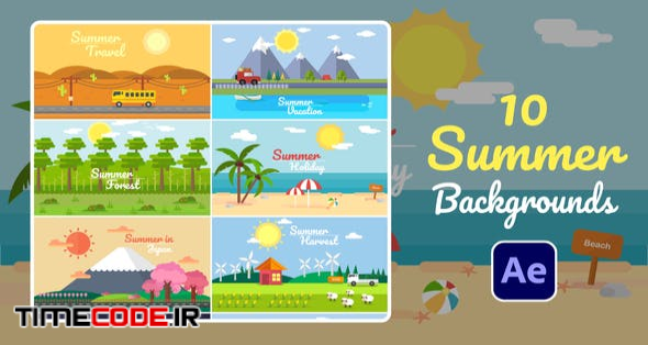 Summer Background   After Effects