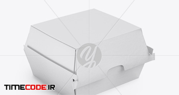 Paper Burger Box Mockup