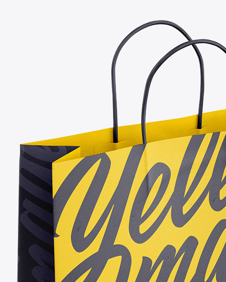 Paper Shopping Bag with Rope Handle Mockup