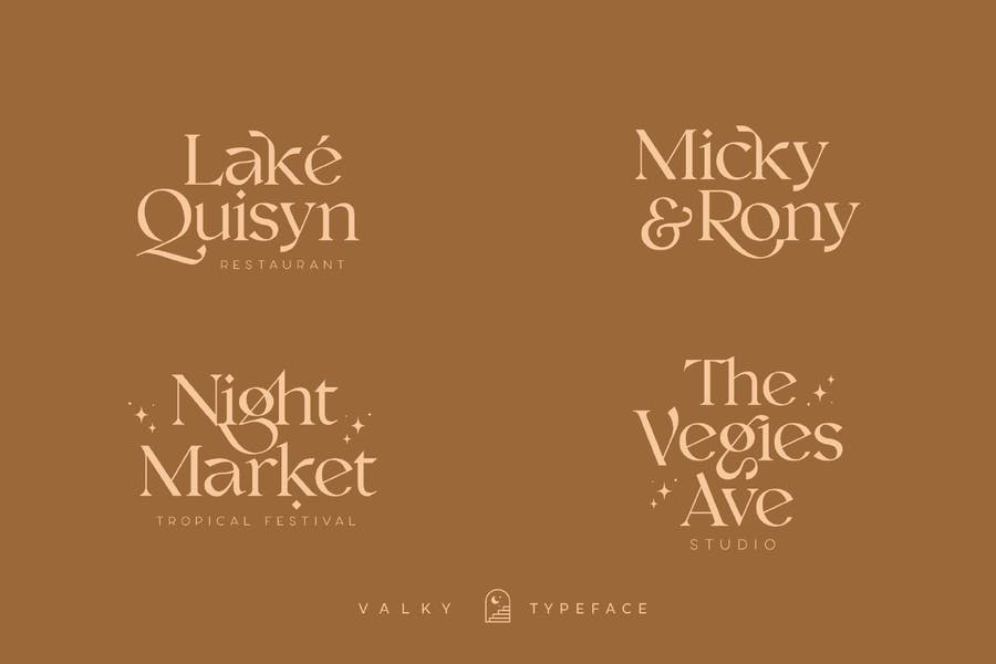 Valky Classic Modern Typeface